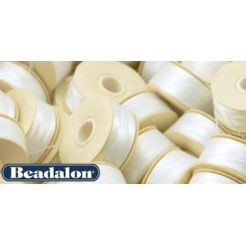 Beadalon Thread, White D Size 58.5 m