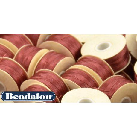 Beadalon Nymo siūlas puikiai tinka biseriui, dydis D, 0.30 mm, violetinės - burgundiškos spalvos 58,5 m
