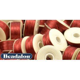 Beadalon Nymo siūlas puikiai tinka biseriui, dydis D, 0.30 mm, raudonos spalvos 58,5 m