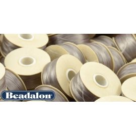 Beadalon Nymo siūlas puikiai tinka biseriui, dydis D, 0.30 mm, pilkos spalvos 58,5 m