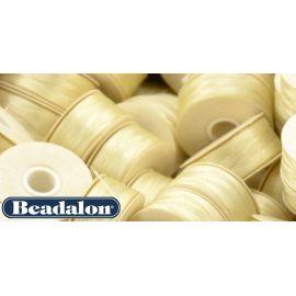 Beadalon Nymo siūlas, kreminės spalvos D dydis 58,5 m