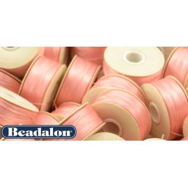 Beadalon Nymo siūlas puikiai tinka biseriui, dydis D, 0.30 mm, rožinės spalvos 58,5 m
