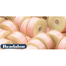 Beadalon Nymo siūlas puikiai tinka biseriui, dydis D, 0.30 mm, šviesiai rožinės spalvos 58,5 m