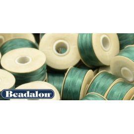 Beadalon Nymo siūlas puikiai tinka biseriui, dydis D, 0.30 mm, žalios spalvos 58,5 m
