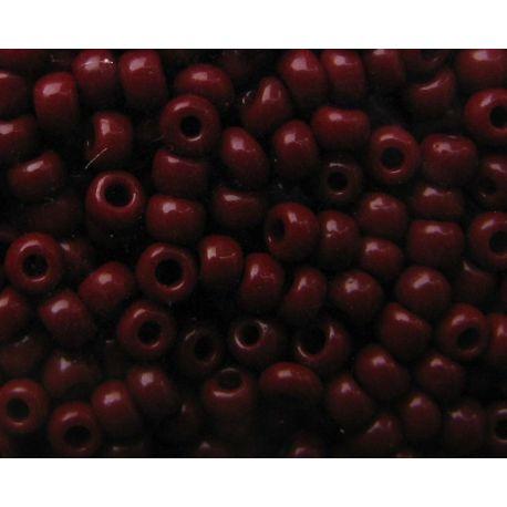 Čekiškas biseris 10/0 (2,3 mm) dydžio, 93300-10 rudos, bordo spalvos, apvalios formos 50g