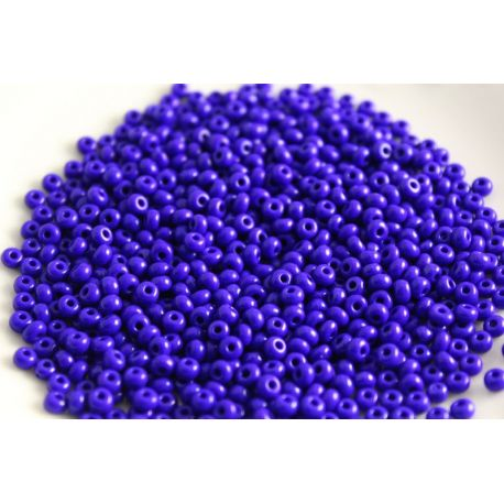 Čekiškas biseris 8/0 (2,9 mm) dydžio, 33060-8 ryškiai mėlynos spalvos su violetiniu atspalviu, apvalios formos 50g