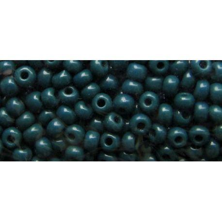 Čekiškas biseris 11/0 (2,1 mm) dydžio, 53270-11 tamsiai žalios spalvos, apvalios formos 50g