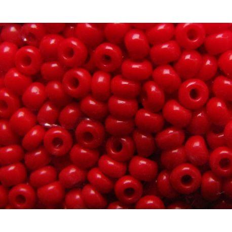 Čekiškas biseris 11/0 (2,1 mm) dydžio, 93190-11 ryškiai raudonos spalvos, apvalios formos 50g