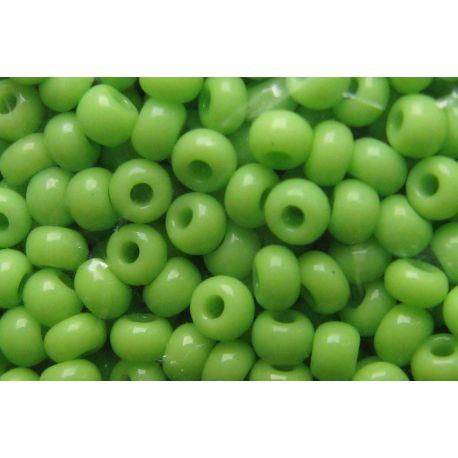 Čekiškas biseris 11/0 (2,1 mm) dydžio, 53310-11 salotinės spalvos, apvalios formos 50g