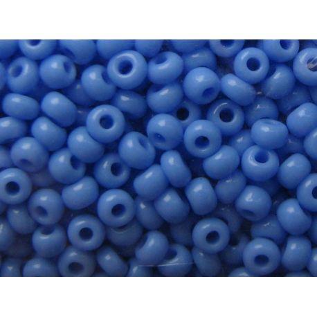 Čekiškas biseris 11/0 (2,1 mm) dydžio, 33020-11 melsvos spalvos, apvalios formos 50g