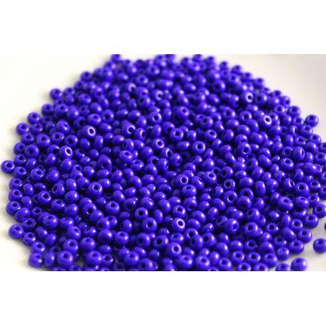 Čekiškas biseris 11/0 (2,1 mm) dydžio, 33060-11 ryškiai mėlynos spalvos su violetiniu atspalviu, apvalios formos 50g