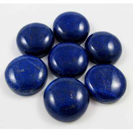 Lazurito kabošonai, nedažyti, apvalios formos, 25 mm mėlynos spalvos su Pirtio dulkėmis, kilmės šalis Afganistanas