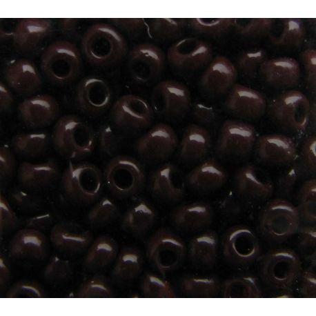 Čekiškas biseris 8/0 (2,2,9 mm), 13780-8 tamsiai rudos spalvos, apvalios formos 50g