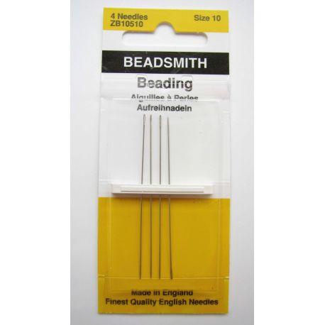 Biserio adatos, siuvimui, siuvinėjimui, rankdarbiams, dydis 10 mm pakuotėje 4 vnt.