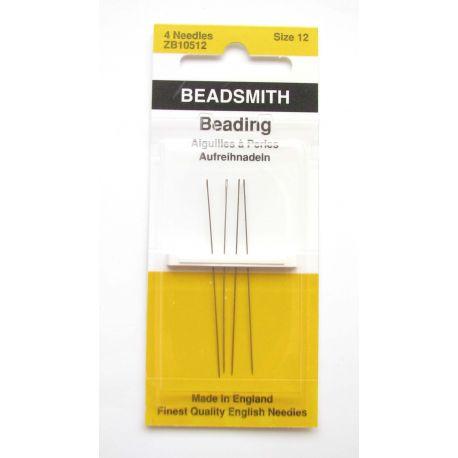 Biserio adatos, siuvimui, siuvinėjimui, rankdarbiams, dydis 12 mm pakuotėje 4 vnt.