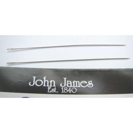 Biserio vėrimo adata skirta vėrimui biseriu 12 dydžio, 1 vnt. John James