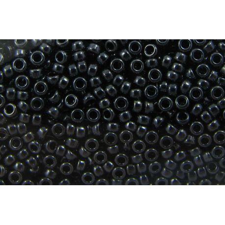 Japoniškas biseris 15/0 dydžio (451), hematito spalvos, (Rocailles) apvalios formos 5g