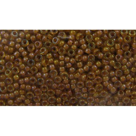 Japoniškas biseris 15/0 dydžio (2238), skairūs, viduriukas geltonos spalvos, (Rocailles) apvalios formos 5g