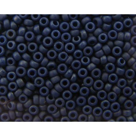 Japoniškas biseris 15/0 dydžio (2075), mėlynos spalvos, matiniai, (Rocailles) apvalios formos 5g