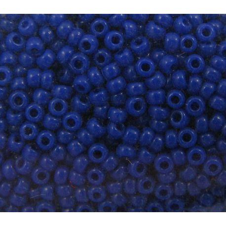 Japoniškas biseris 15/0 dydžio (414), tamsiai mėlynos spalvos, (Rocailles) apvalios formos 5g