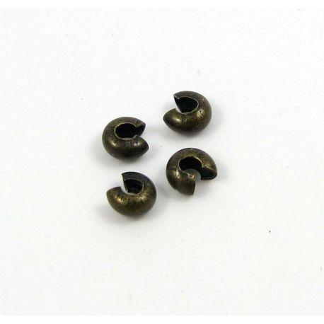 Spaustuko paslėpėjas skirtas papuošalų, rankdarbių gamybai sendintos bronzinės spalvos 3 mm