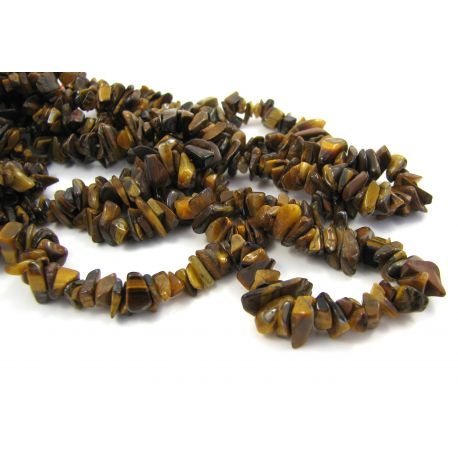 Natural tiger eye chipping beads 4.5-10 mm. 90 cm long