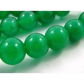 Emeraldo karoliukai 10 mm