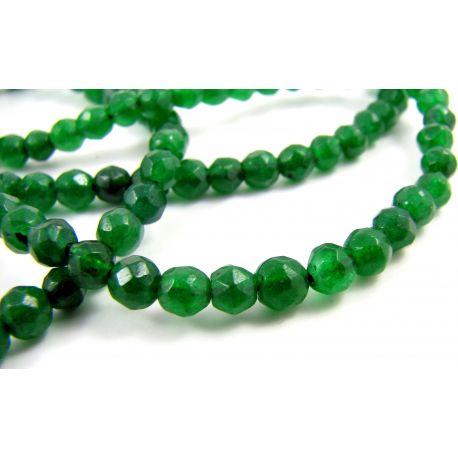 Emeraldo karoliukai 4 mm