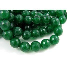 Emeraldo karoliukai 12 mm