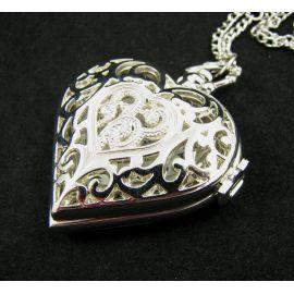 """Kišeninis laikrodis """"Širdelė"""" su grandinėle"""