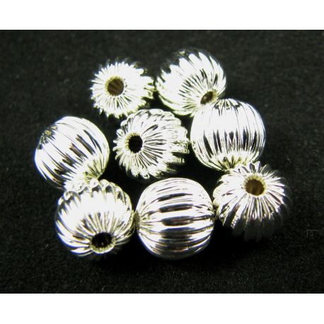Intarpas skirtas papuošalų gamybai sidabro spalvos apvalios formos 8 mm
