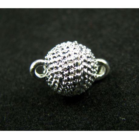 Magnetinis vėrinio užsegimas, sidabro spalvos, 8 mm, 1 vnt.