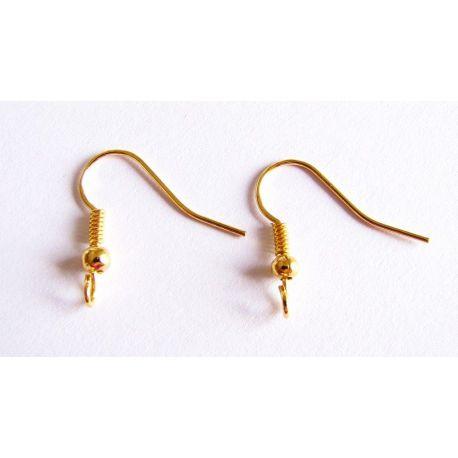 Kabliukai skirti auskarų gamybai aukso spalvos 20x17,5mm