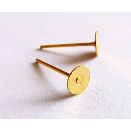 Kabliukai skirti auskarų gamybai aukso spalvos vinukas 11x5mm