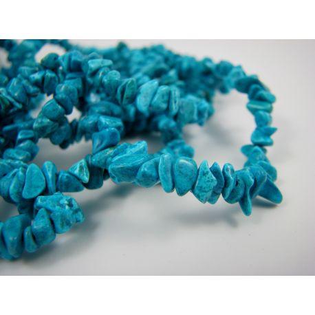 Houlito skaldos gija, ryškiai mėlynos spalvos 3-5x3-5mm