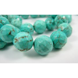 Synthetic turquoise beads 10 mm