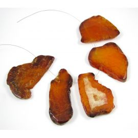Agato karoliukai - pakabukai, 66x28 mm, 1 vnt.