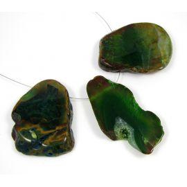 Agato karoliukai-pakabukai, 66x28 mm, 1 vnt.