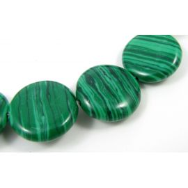 Synthetic malachite beads 17 mm