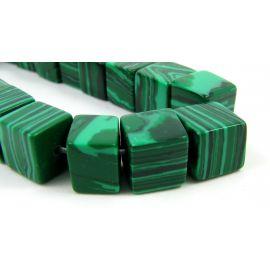 Synthetic malachito beads 8x12 mm