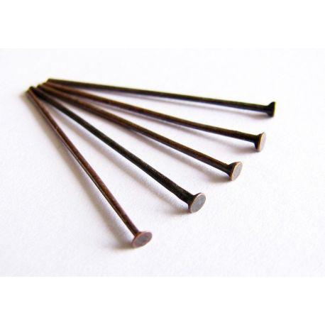 Smeigtukai bronzinės spalvos plokščia galvute 28mm