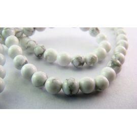 Howlite beads 4 mm