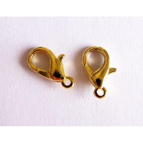 Užsegimas aukso skirtas papuošalų gamybai spalvos 12mm