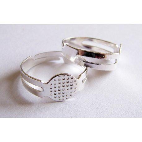 Žiedo pagrindas sidabro spalvos reguliuojamas dydis 8mm