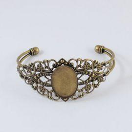 Brass bracelet for cabochon 18 cm