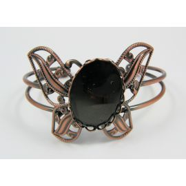 Brass bracelet for defective cabochon