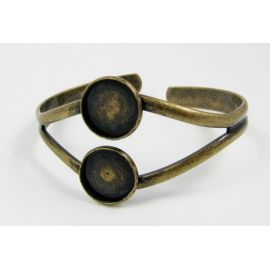 Brass bracelet for cabochons 17 cm