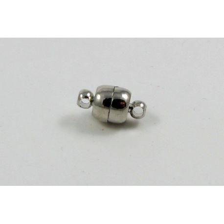 Magnetinis užsegimas, rankdarbiams sidabro spalvos, dydis 11x6 mm