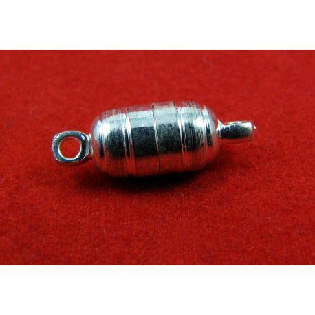 Magnetinis užsegimas, rankdarbiams sidabro spalvos, dydis 15x6 mm