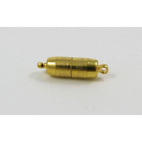Magnetinis vėrinio užsegimas, aukso spalvos, 17x5 mm
